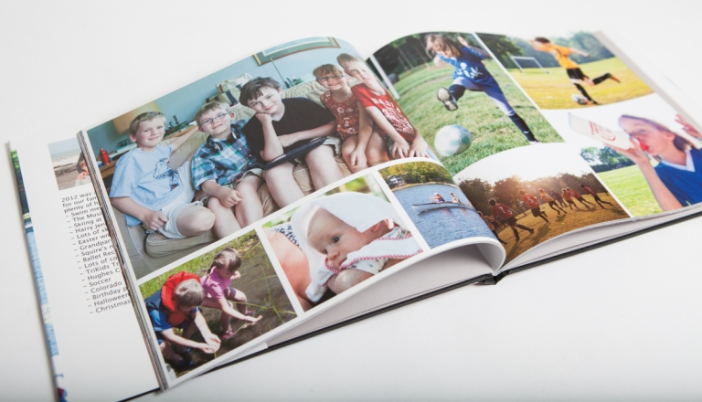 book with family photos